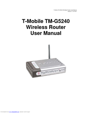 T-mobile tm-g5240 - T-mobile Hotspot Wireless Manuals