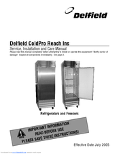 [SCHEMATICS_48YU]  DELFIELD REFRIGERATORS AND FREEZERS SERVICE AND INSTALLATION MANUAL Pdf  Download   ManualsLib   Delfield Freezer Wiring Diagram Mini      ManualsLib