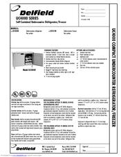 delfield uc4048 manuals. Black Bedroom Furniture Sets. Home Design Ideas