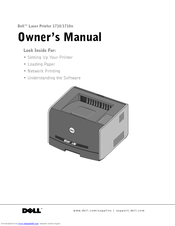 dell 1710n laser printer b w manuals rh manualslib com dell 1710 printer service manual Dell 1710 Toner