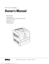 Dell 3000cn Color Laser Printer Owner's Manual