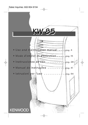 Kenwood KW 85 Use And Maintenance Manual