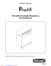 Delonghi PAC 290 U Manuals
