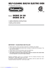 Delonghi 24 E Manuals