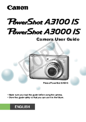 canon powershot a3000 is user manual pdf download rh manualslib com  canon powershot a3000is manual