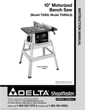 DELTA SHOPMASTER TS200 INSTRUCTION MANUAL Pdf Download
