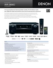 denon avr 2809ci manuals rh manualslib com Denon AVR 2809Ci Product Sheet Denon AVR 989 Manual
