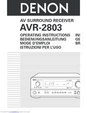 denon avr 2803 manuals rh manualslib com Denon AVR 2803 Specs denon avr 2803 manual pdf