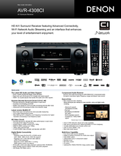 denon avr 4308ci manuals rh manualslib com Multi-Zone Receiver Home Theater Marantz Surround Sound Receivers