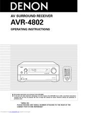 denon avr 4802 manuals rh manualslib com Denon 5 1 Denon AVR 4802R