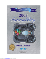 Dimension One Spas Sarena Bay Owner's Manual