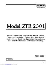 dixon ztr 3014 manuals rh manualslib com dixon ztr 3014 service manual dixon 3014 ztr parts manual