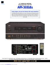 denon avr 3600 manuals rh manualslib com Denon Receiver AVR 3600 DTS denon avr-3600 manual pdf