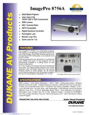 Dukane ImagePro 8756A Specifications