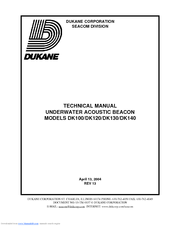 Dukane DK120 Technical Manual