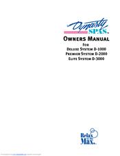 dynasty spas d 3000 manuals rh manualslib com