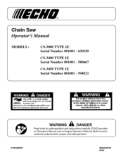 echo chainsaw starting instructions