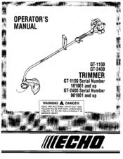 Echo 001001 Operator's Manual
