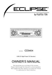eclipse fujitsu ten automobile manuals