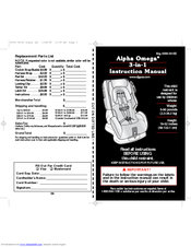 Safety 1st Alpha Omega 3 In 1 Instruction Manual 30 Pages Car Seat Owners