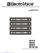 Electro-Voice Q66 Owner's Manual