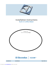 Electrolux E24CM75GSS - Water Reservoir 24 Inch Coffee Maker Installation Instructions Manual