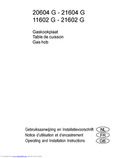 Electrolux 21602 G Operating And Installation Instructions