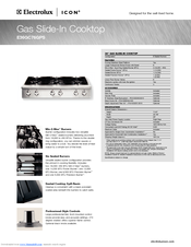 Electrolux E36EC75DSS Specification Sheet