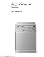 aeg ko favorit 40250 i user instructions pdf download rh manualslib com Samsung Dishwasher Manual GE Dishwasher Manual