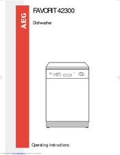 aeg favorit 42300 operating instructions manual pdf download rh manualslib com Fagor Dishwasher Manual Samsung Dishwasher Manual