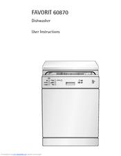 aeg favorit favorit 60870 manuals rh manualslib com aeg favorit 60870 sensorlogic dishwasher manual aeg electrolux favorit sensorlogic dishwasher user manual