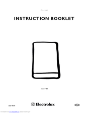 Electrolux 2222 784-01 Instruction Booklet