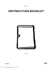Electrolux EU 1327 T Instruction Booklet
