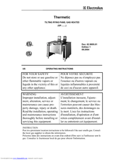 Electrolux 583399 Operating Instructions Manual