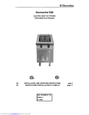 Electrolux 584094 Installation And Operating Instructions Manual