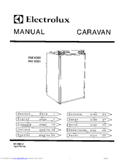 electrolux caravan rm 4360 operating and installation instructions rh manualslib com Electrolux Refrigerator Electrolux Refrigerator