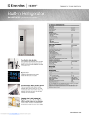 electrolux e42bs75eps 42 refrigerator manuals. Black Bedroom Furniture Sets. Home Design Ideas
