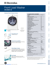electrolux eiflw55hiw 27 front load washer manuals. Black Bedroom Furniture Sets. Home Design Ideas