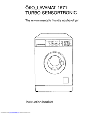 aeg u04042 lavamat 1571 instruction booklet pdf download rh manualslib com