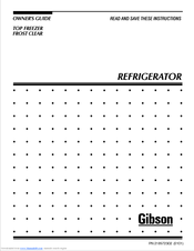 gibson top freezer frost clear refrigerator owner s manual pdf download rh manualslib com