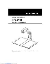 elmo visual presenter ev 200 manuals rh manualslib com