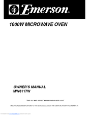 Emerson Mw8117w Owner S Manual Pdf