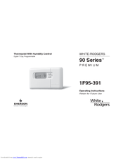 white rodgers 1f95 391 manuals rh manualslib com White Rodgers Thermostat Operating Manuals White & Rodgers 1F85-277