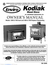 Enviro Kodiak 1200 Insert Manuals