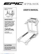 epic 475 mx treadmill manuals rh manualslib com Folding Manual Treadmill epic t60 treadmill user manual