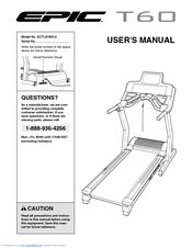 epic t60 treadmill manuals rh manualslib com User Treadmills Manual Imtl31504.0 User Treadmills Manual Imtl31504.0