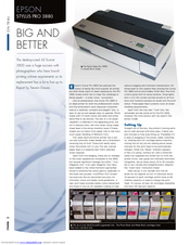 Epson 3880 - Stylus Pro Color Inkjet Printer Brochure