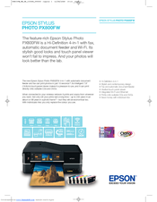 Epson Stylus Photo Printer PX800FW Specifications