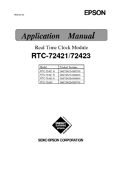 Epson RTC-72423 A Applications Manual