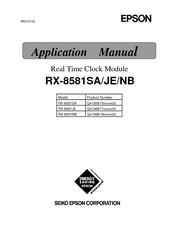 Epson RX-8581SA Applications Manual